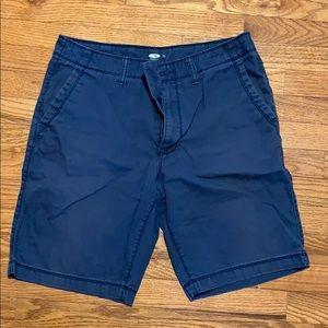 """Old Navy navy khaki shorts. 32W 10"""" inseam"""